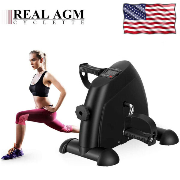 Black Portable Exercise Bike for Legs amp; Arms Mini Exercise Peddler w LCD Display $34.99