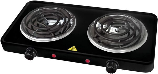Portable Electric Dual 2 Buffet Burner Hot Plate Cook 1500 Watt NEW