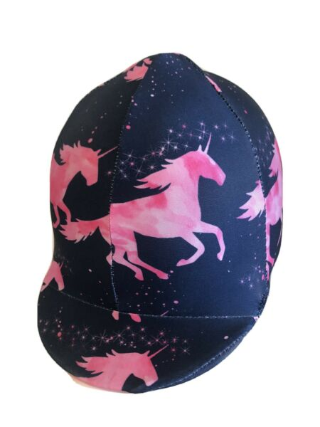TC Custom Covers Lycra horse helmet Covers one size fits all. AUSTRALIAN MADE AU $22.00