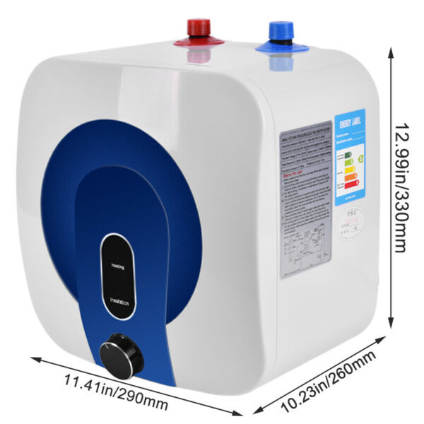 110V 10L 35℃ 75℃ Hot Water Heater Electric Tankless Tank Kitchen Bathroom Use $95.99