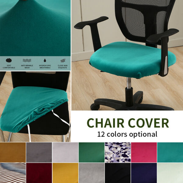 Stretch Slipcovers Dining Chair Cover Seat Covers Removable 12 Colors Optional $8.59