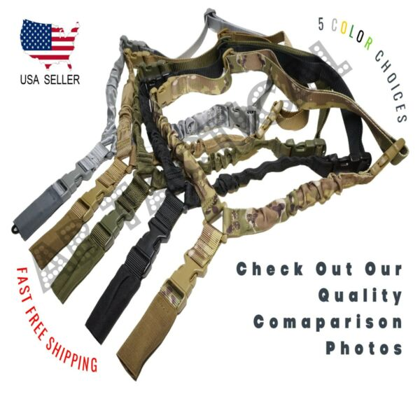 Heavy Duty Tactical Single Point Gun Rifle Sling w Quick Detach QD Buckle USA