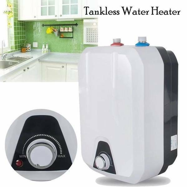 110V 10L Electric Tankless Hot Water Heater Kitchen Bathroom Home 35℃ 75℃ USA $89.99