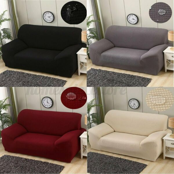 1 4 Seater Waterproof Elastic Knitting Sofa Cover Furniture Couch Protector $27.43