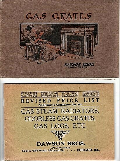 Dawson Bros GAS GRATES Illustrated Catalogue No 80 Complete Assortment 1st ed