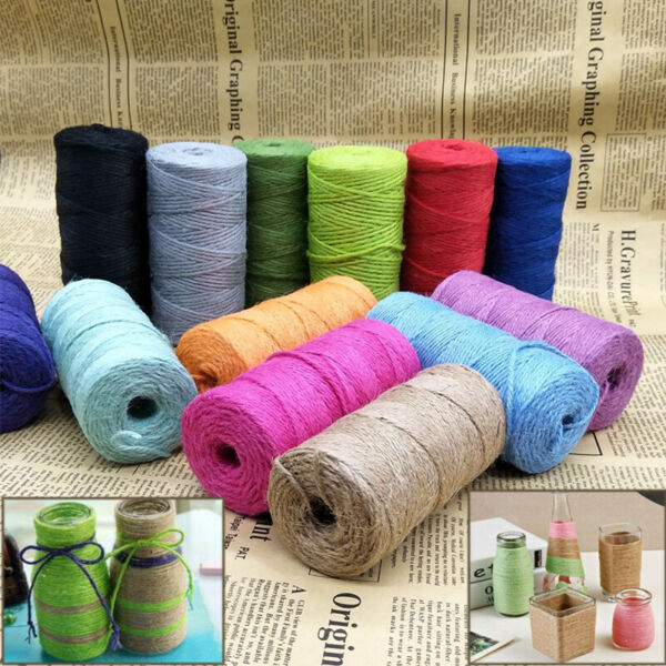 3Ply Burlap Natural Fiber Jute Twine Rope Cord String Craft DIY Decor 100M New