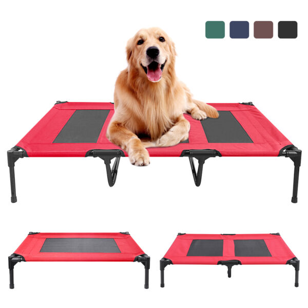 Elevated Dog Bed Camp Lounger Sleep Pets Cat Raised Cot Hammock Indoor Outdoor $21.99