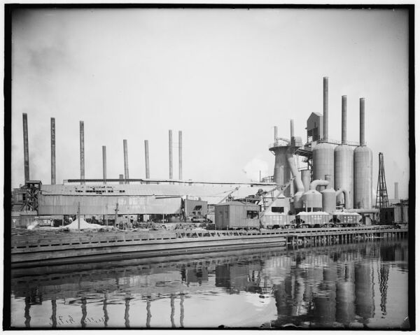 1910 Photo of Central furnace works Cleveland Ohio a $32.50