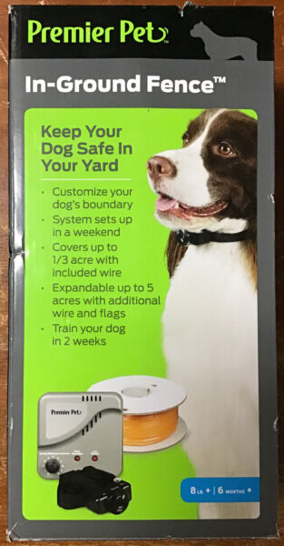 Premier Pet In Ground Fence w Waterproof Receiver Collar GIG00 16919 New $49.99