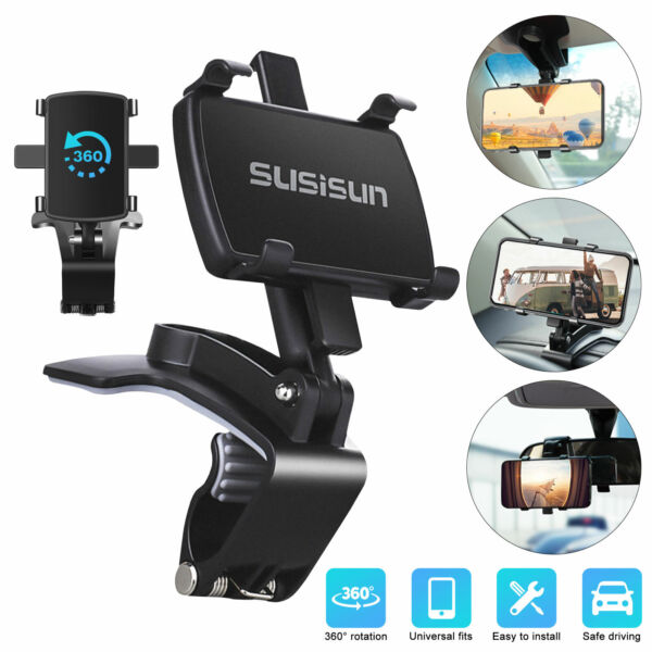 Car Dashboard Mount Holder Stand Cell Phone GPS Universal Clip Cradle for iPhone $12.48