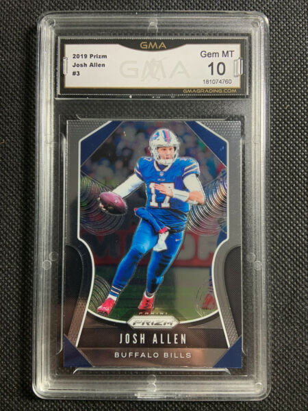 2019 Panini Prizm Josh Allen #3 GMA 10 Gem Mint Comp to PSA Buffalo Bills $125.00