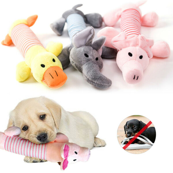 Soft Pet Dog Puppy Toys Chew Play Squeaker Squeaky Cute Plush Sound Funny Toy Q $5.99
