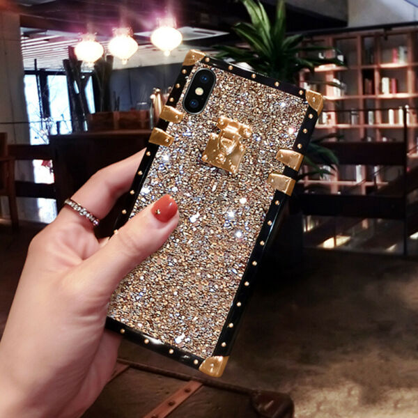 Luxury Bling Glitter Square Case Cover for Samsung Galaxy S20 S10 S8 Note20 10 9 $9.85