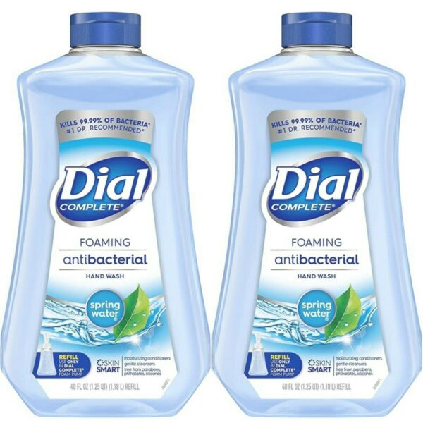 2 Dial Foaming Hand Wash Refill 40oz Spring Water Hand Soap Refill 40oz x2