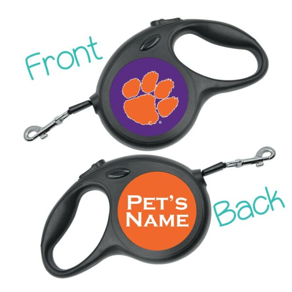 Clemson Tigers NCAA Retractable Dog Walking Leash Personalized for your Pet $24.97
