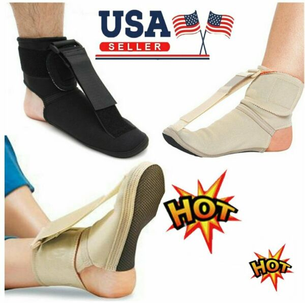 Plantar Fasciitis Night Splint Foot Drop Brace For Heel Pain Relief Adjustable S