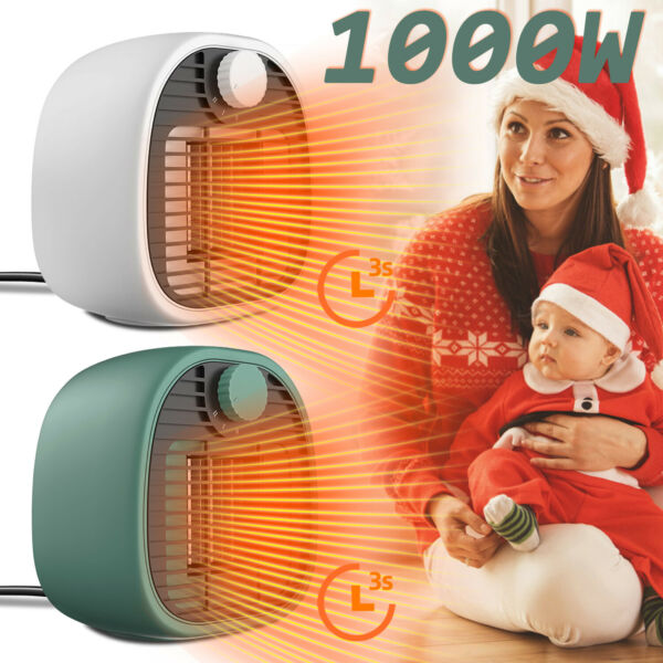 1000W Portable Mini Space Heater Electric Home Office Indoor Thermostat Heating $28.99