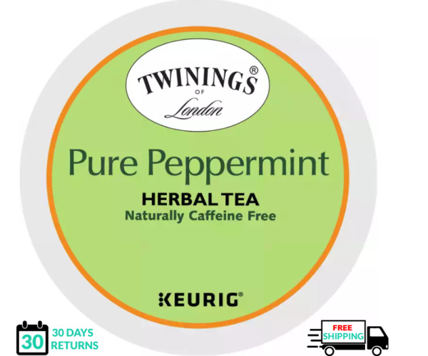 Twinings Pure Peppermint Keurig Tea K cups YOU PICK THE SIZE