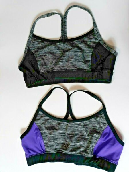 RBX Athletic Racerback Sports Bra Size Large Netted Back Set of 2 Bras