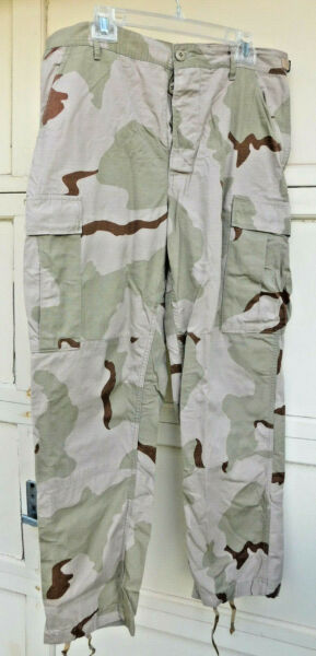 Trousers Military Ripstop Desert Camouflage Large Short Unused NWOT