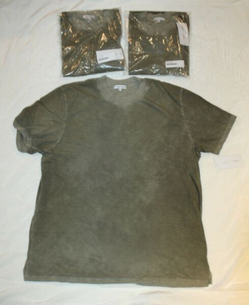 Cotton Citizen men#x27;s Presley Short Sleeve Tee Vintage Basil Grey Green Sz M XL