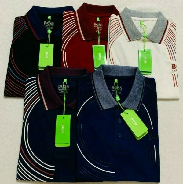 quot;NWT Hugo Boss Men#x27;s Polo T Shirt Short Sleeves PICK YOUR SIZE DESIGNquot; $32.00