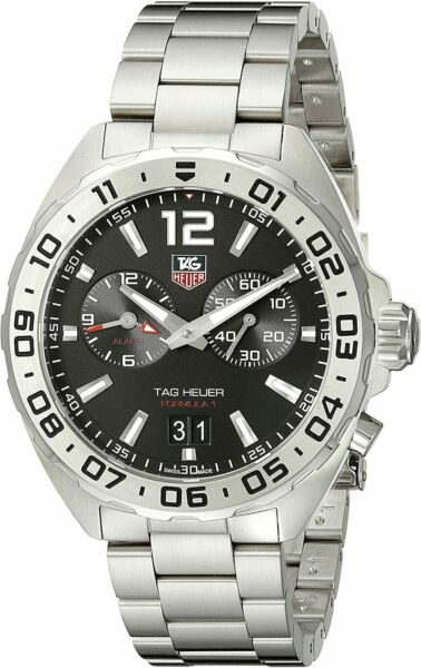 New Tag Heuer Formula 1 One Alarm WAZ111A.BA0875 Stainless Steel Mens 41mm Watch