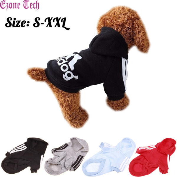 2 Leg Pet Dog Clothes Hoodie Winter Warm Sweatshirt Cat Puppy Coat Jacket S XXL $6.95