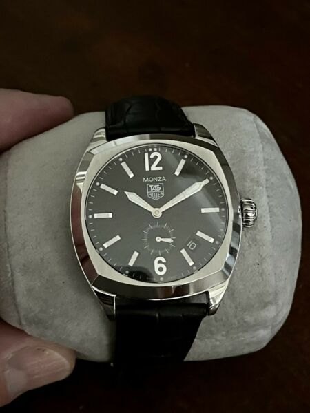 TAG HEUER MONZA WR2110 Men's Automatic Black Leather Watch