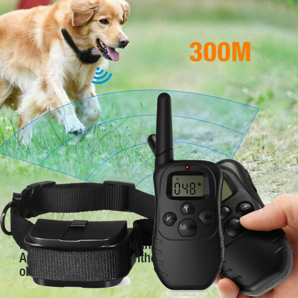 Dog Shock Collar Waterproof Electric for Large 328 Yard Pet Training With Remote $17.59