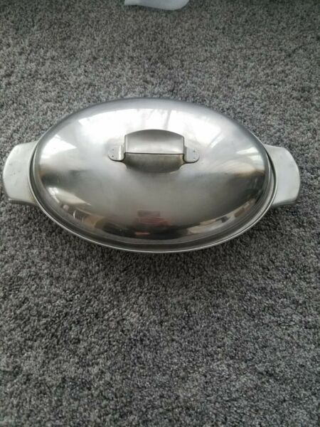 Revere ware Stainless Small Covered Buffet Server Bowl Dish