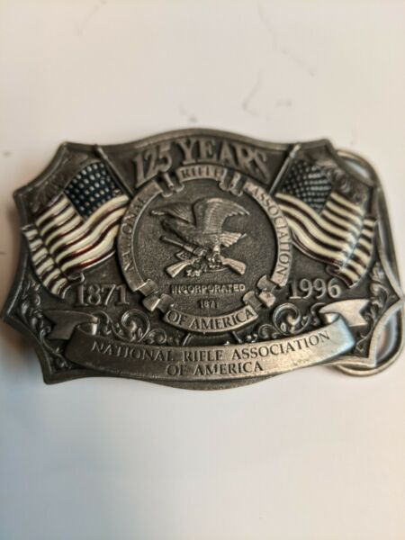 125 Years Anniversary NRA Vintage Belt Buckle