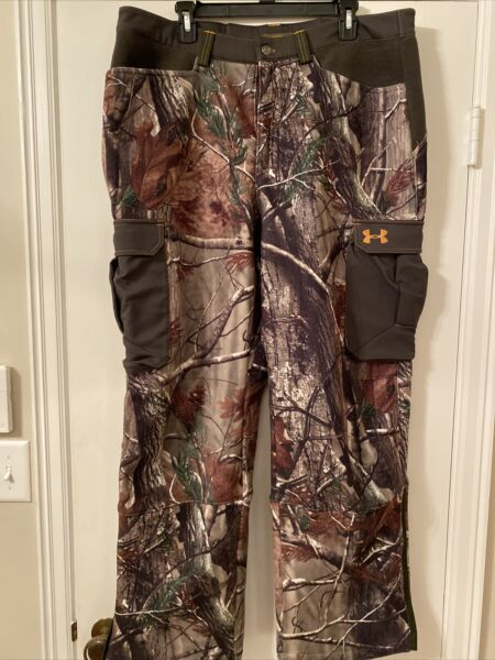 Under Armour Pants Scent Control Hunting Camo Realtree 38x32