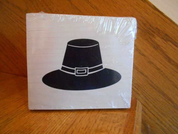 Longaberger Pilgrim Hat Wooden Block Thanksgiving WoodCrafts *shipping included*