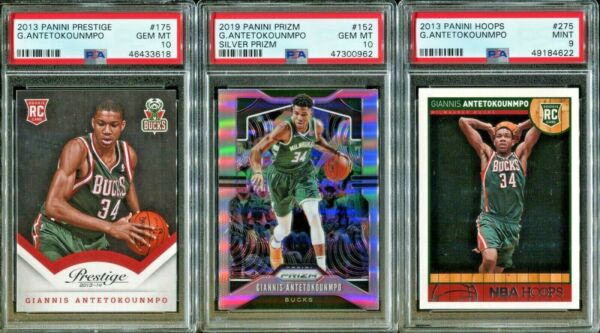 Absolute Mystery Pack Patch Auto Cards Giannis Antetokounmpo Rookie PSA 10 $44.99