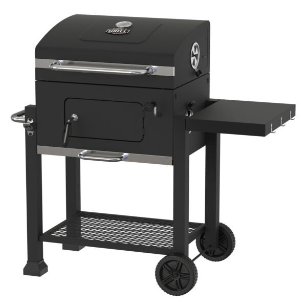 Heavy Duty 24 Inch Charcoal Grill BBQ Barbecue Smoker Outdoor Pit Patio Cooker