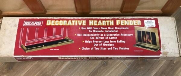 Decorative Fireplace Hearth Fenders Antique or Polished Brass NEW Open Box