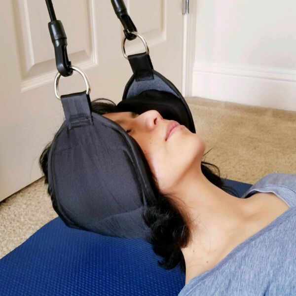 Hammock For Neck Pain Relief Support Massager Cervical Traction Device Stretcher $13.69