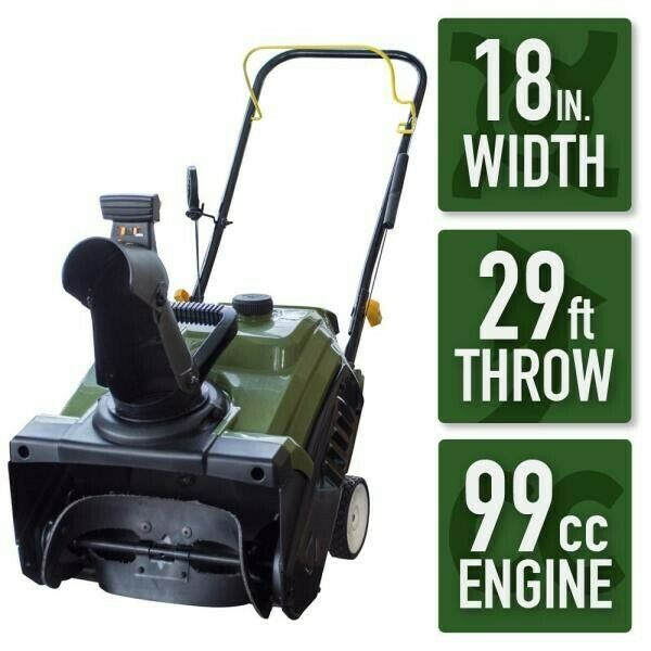 Earth Series 18 in. Single Stage Gas Snow Blower