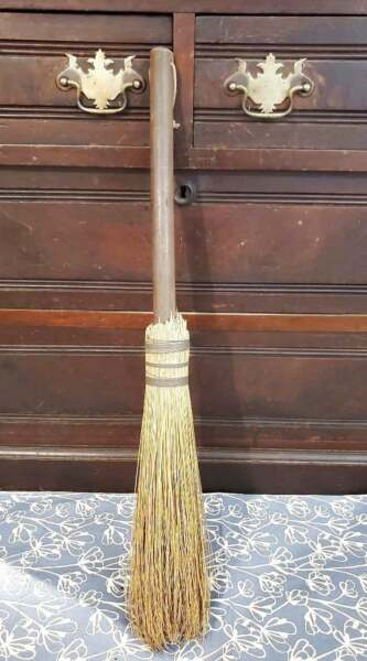 Vintage Fireplace Farmhouse Hearth Broom 25quot;