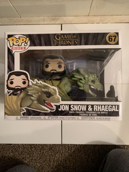 Funko Pop Vinyl Ridez: Game of Thrones John Snow on Rhaegel Pop Box# 67