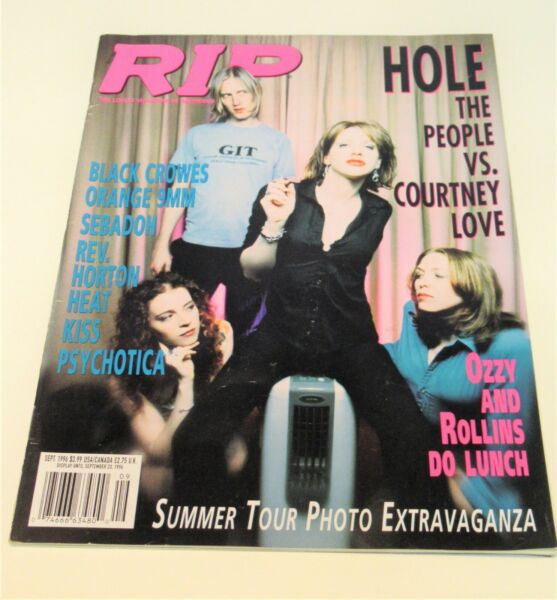 RIP MAGAZINE SEPT 1996 HOLE COURTNEY LOVE COVER OZZY AND ROLLINS INTERVIEW $19.95