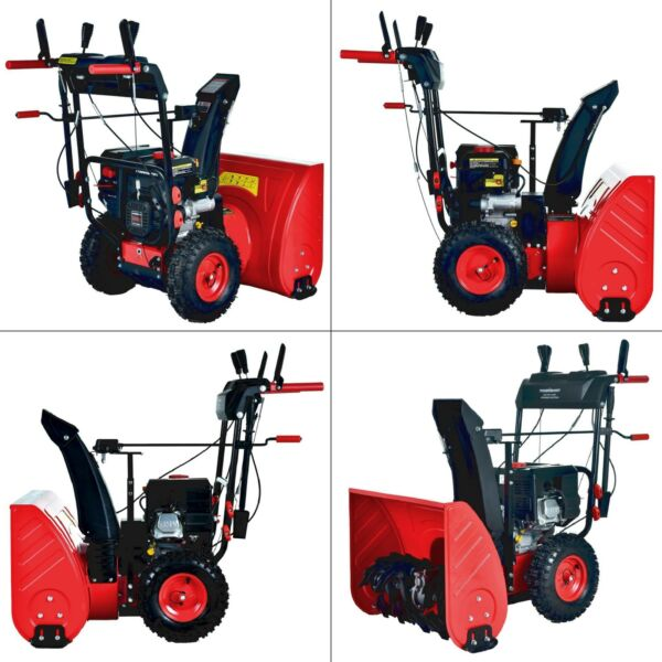 24 in. 212 cc two stage gas snow blower with electric start