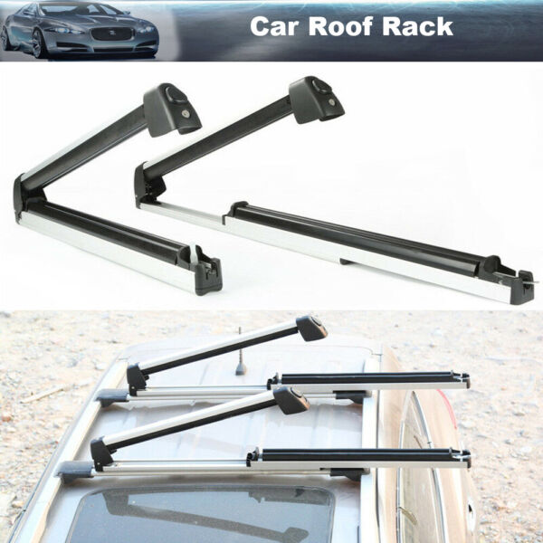2PCS Car Roof Rack Snow Board Ski Rack Carrier Slide Cargo Luggage with Lock $72.99