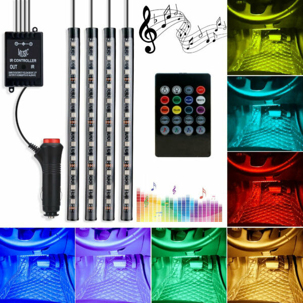 RGB Interior Car Lights With Remote For Toyota Camry Tacoma RAV4 Venza Sienna $11.33