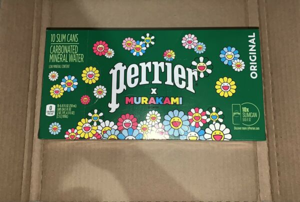 Takashi Murakami Perrier Mineral Water 8.45 Ounces 10 Can Case