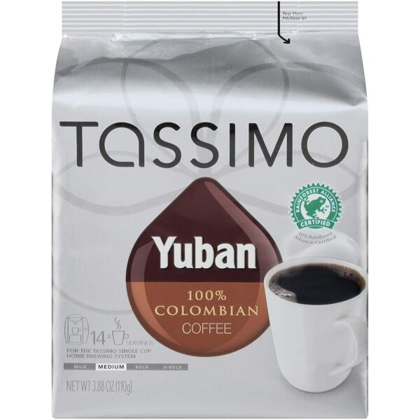 Yuban Colombian Medium Roast Coffee T Discs for Tassimo Brewing Systems 14...