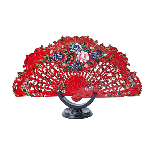 Wood Fans Custom Woman Dance Fans Hand Painted Spanish Style Fans Wedding Gift $18.04