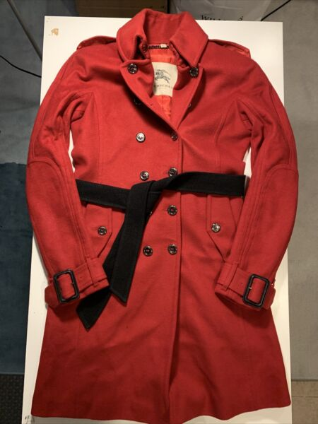 burberry coat women Size US 6 UK 8 Made In Italy $198.88