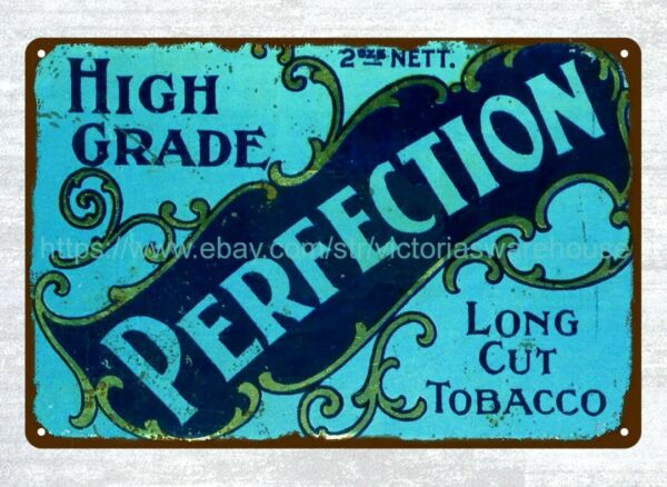 Dudgeon amp; Arnell Perfection Long Cut Tobacco 1930#x27;s metal tin sign wall piece $15.95